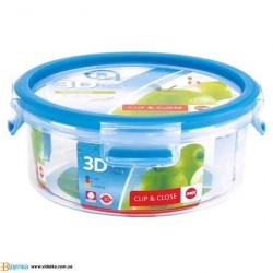 Контейнер EMSA CLIP&CLOSE 3D круглый, 0,85л EM 508552