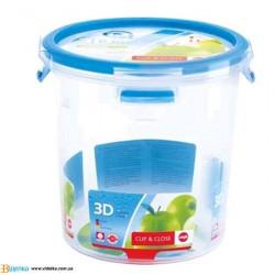 Контейнер для пищи EMSA CLIP&CLOSE 3D круглый, 2л EM 508553