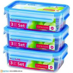 Набор контейнеров 3пр Emsa CLIP&CLOSE, 1 л EM 508558