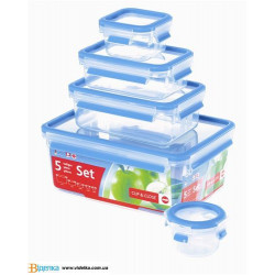 Набор  контейнеров Emsa 5шт CLIP&CLOSE 3D EM 508568