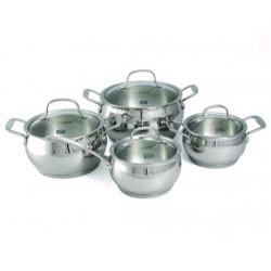 Набор посуды FORUM 8 пр. со стеклянными крышкам Gipfel 1548