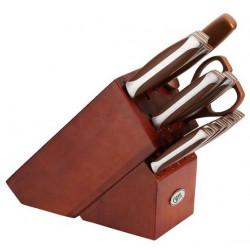 Набор ножей ACAPELLA 15 пр. на деревянной подставке Gipfel 6660