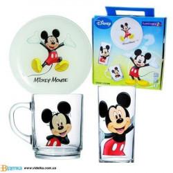 Набор посуды 3пр Luminarc Disney Mickey Colors H5320