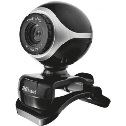 Веб камера Trust Exis Webcam Black/Silver
