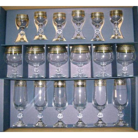 Набор бокалов 18 предмета Bohemia Claudia (43249)