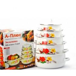 Набор посуды эмалированной 10 предметов А-Плюс 0962