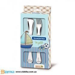 Набор столовых приборов 2 пр Tramontina BABY Le Petit blue 66973/010