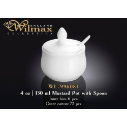 Wilmax Горчичница с-ложкой 130мл WL-996083
