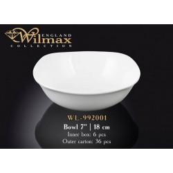 Салатник квадратный 18см Wilmax WL-992001