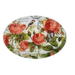 Блюдо овальное 30см Viva Garden Rose S441012C-L077
