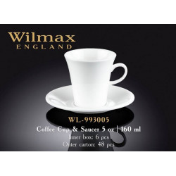 Wilmax Чашка кофейная&блюдце 160мл WL-993005