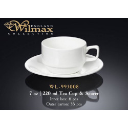 Wilmax Чашка чайная&блюдце 220мл WL-993008