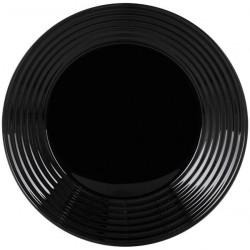 Тарелка обеденная 25см Luminarс Harena Black L7611