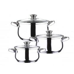 Набор посуды 6 предметов Luxberg LX112010 (1.3л, 1.9л, 2.7л)