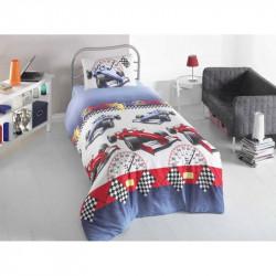 Постельное белье для подростков 160х220 Eponj Home - Ralli Mavi ранфорс