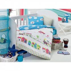 Детское постельное белье для младенцев Eponj Home - Tren Mavi