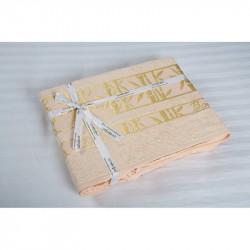 Простынь махровая 160х200 Cestepe Bamboo - Altin Agac персик