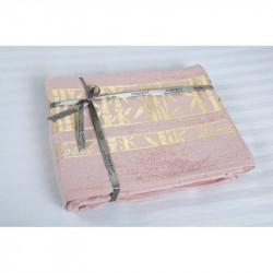 Простынь махровая 160х200 Cestepe Bamboo - Altin Agac розовый