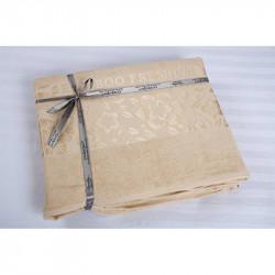 Простынь махровая 200х220 Cestepe Bamboo - Cicek бежевый