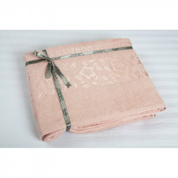 Простынь махровая 200х220 Cestepe Bamboo - Cicek розовый