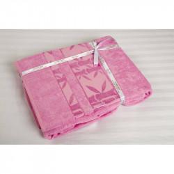 Простынь махровая 200х220 Cestepe Bamboo - F.Agac розовый