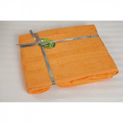 Простынь махровая 160х200 Cestepe Bamboo - Premium оранж
