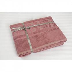 Простынь махровая 200х220 Cestepe Bamboo - Premium темно-розовый