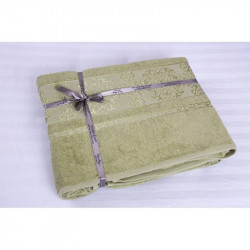 Простынь махровая 200х220 Cestepe Bamboo - Premium зеленый