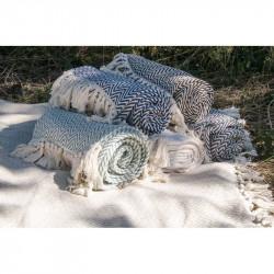 Плед-накидка 130х170 Buldans - Ritim mavi