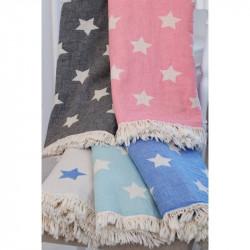 Плед - накидка 130х170 Barine - Stars Throw mint