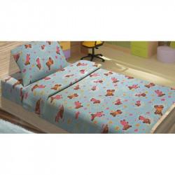Детское постельное белье для младенцев Lotus ранфорс - BoBi голубой