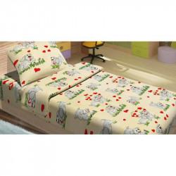Детское постельное белье для младенцев Lotus ранфорс - DoGi бежевый