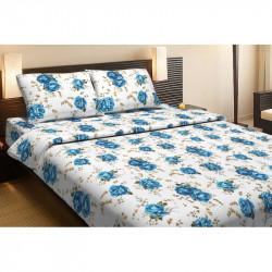 Постельное белье евро Lotus Life Collection - Agnes синее
