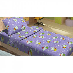 Постельное белье для подростков Lotus Young - Hello Kitty Star V2 лиловый ранфорс