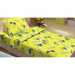 Постельное белье для подростков Lotus Young - Minions Happy желтый ранфорс