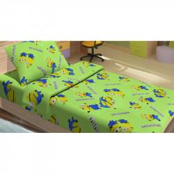 Постельное белье для подростков Lotus Young - Minions Happy зеленый ранфорс