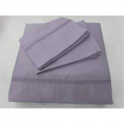 Постельное белье Tac Hotel Life евро - Kio Nakisli V-3 фиолетовое