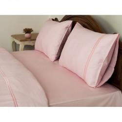 Постельное белье Tac Hotel Life евро - Mio V-2 pembe розовый
