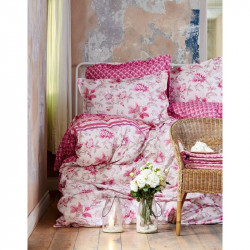 Постельное белье евро Karaca Home ранфорс - Patrice 2016 pembe розовое