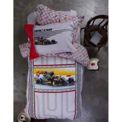 Постельное белье подростковое Karaca Home ранфорс - Racing 2017-1 red