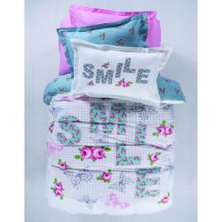 Постельное белье подростковое Karaca Home ранфорс - Smile