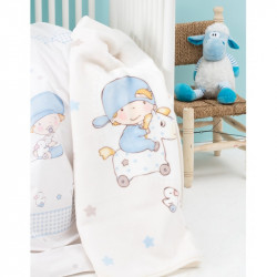 Детский плед в кроватку Karaca Home 100Х120 - Baby Boys 2017-1