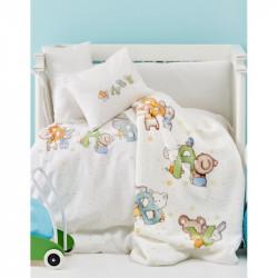 Детский плед в кроватку Karaca Home 100х120 - Playfull 2017-1