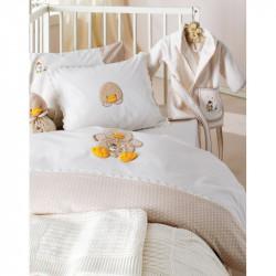 Детский набор в ванную для младенцев Karaca Home - Duck молочный