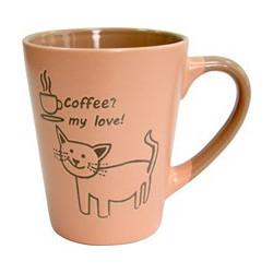 Кружка 320мл Milika Coffee Cat Pink M0420-38022B