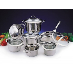 Набор посуды BergHOFF Tulip 12 пр. со стеклянными крышками 1112282