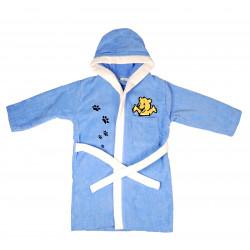 Детский махровый халат Home Line 9-10л. синий