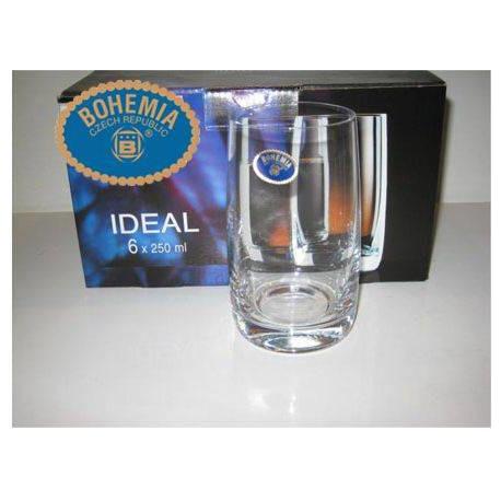 Стаканы для воды Bohemia Ideal 250 мл - 6шт