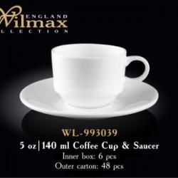 Wilmax.Чашка кавова&блюдце 140мл