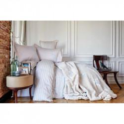 Набор постельное белье с пледом Karaca Home евро - Passero 2018-1 синий